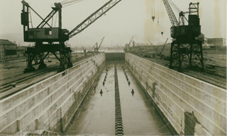 Construction of Swansea Drydocks